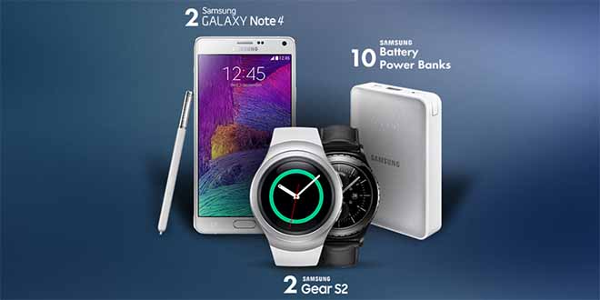 Διαγωνισμός Samsung Greece με δώρο 2 κινητά Galaxy Note 4 2 SmartWatch Gear S2 και 10 Battery power banks